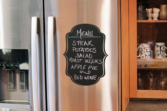 """2 x Elegant Decorative Chalkboard Vinyl Wall Decal - 11"""" x 15"""" & 11"""" x 7.5""""  - Great for the kitchen, office or anywhere in your home"""