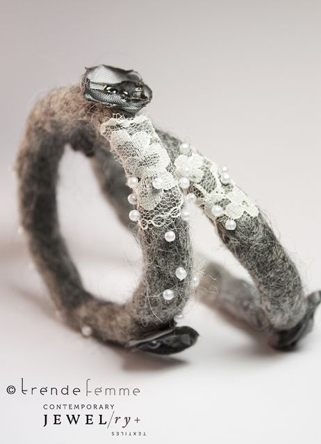 Hand Felted Bangles -- Gray Dawn by TrendeFemme, via Flickr