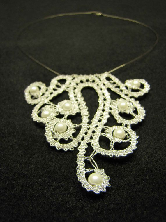 Bobbin Lace Necklace from Slovenia