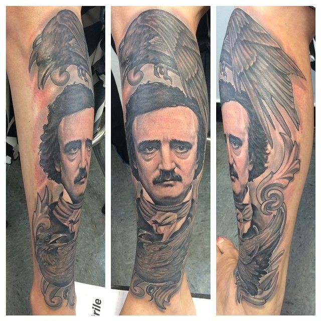 Diana 39 s poe tattoo by steve morris of bodyworks tattoo in for Tattoo shops in pittsburgh pa