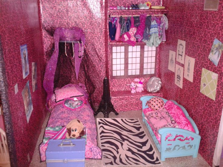 Barbie Bedroom In A Box: How To Make A Barbie House