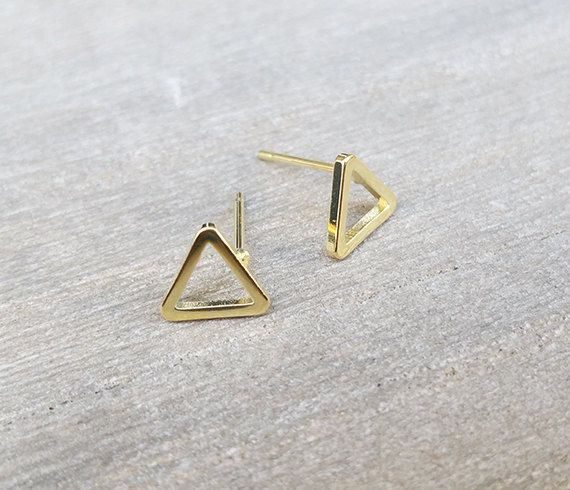 Earring Design Ideas find this pin and more on handmade earring ideas Triangle Stud Earrings Simple Gold Earrings Post By Hlcollection