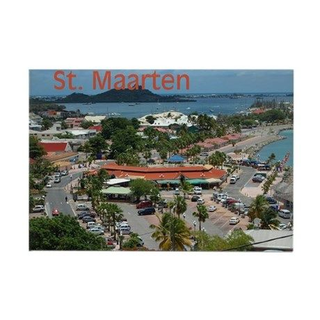 St. Maarten-Downtown Rectangle Magnet  by Khoncepts (Sold MO) Thank you!