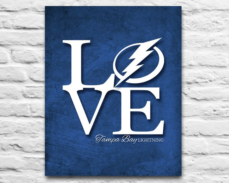 Tampa Bay Lightning hockey florida inspired ART PRINTABLE diy, L-o-v-e, wedding, christmas, birthday gift Room Wall Decor, 8x10 11x14 by ParodyArtPrints on Etsy https://www.etsy.com/listing/233475188/tampa-bay-lightning-hockey-florida