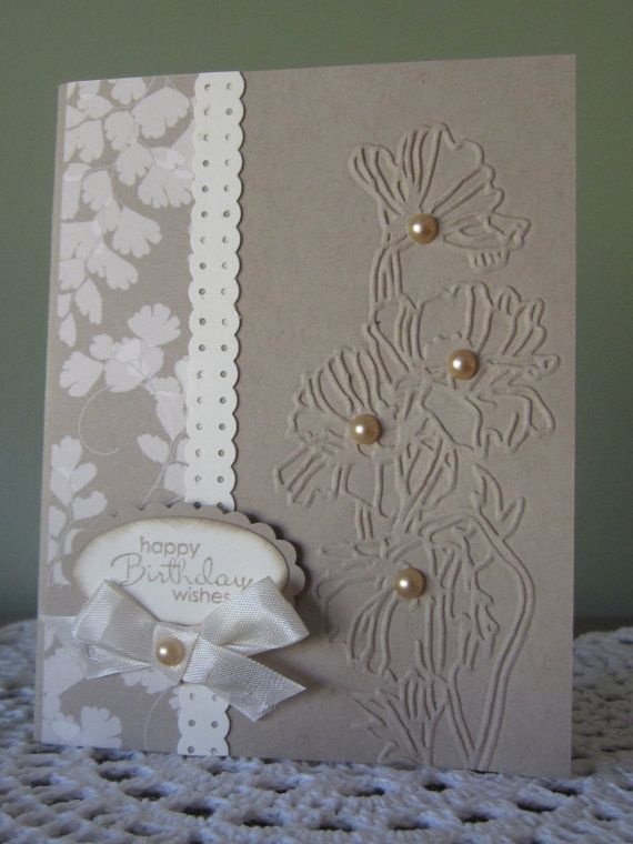 Stampin' Up Handmade Greeting Card: Birthday Wishes