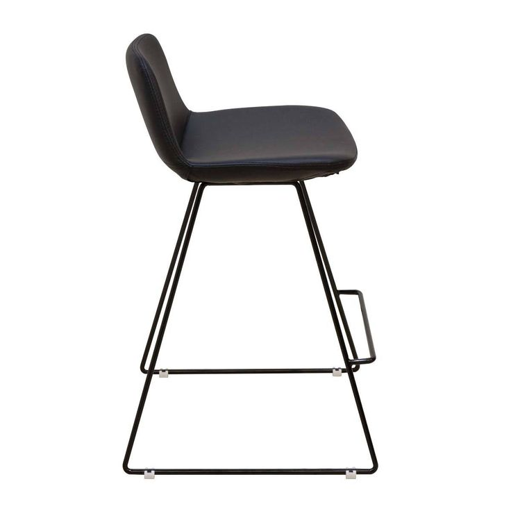 Shop Contemporary Bar Stools Online or Visit Our Showrooms To Get Inspired With The Latest Bar Stools From Life Interiors - Parker Bar Stool (Black, Black Leatherette)