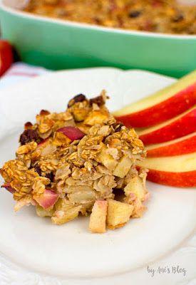 Apfelkuchen zum Frühstück? Ja, dieser Haferflockenauflauf mit Apfel und Zimt ist …   – healthy cooking