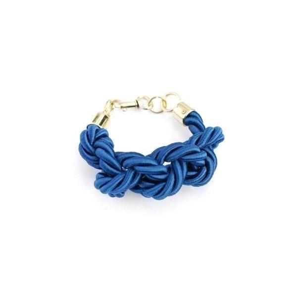 Blue Silk Rope Bracelet by Lilla Balazs
