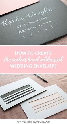 5 Tips for DIY wedding envelope addressing + 2 free downloadable template to help you create the perfect wedding envelope.