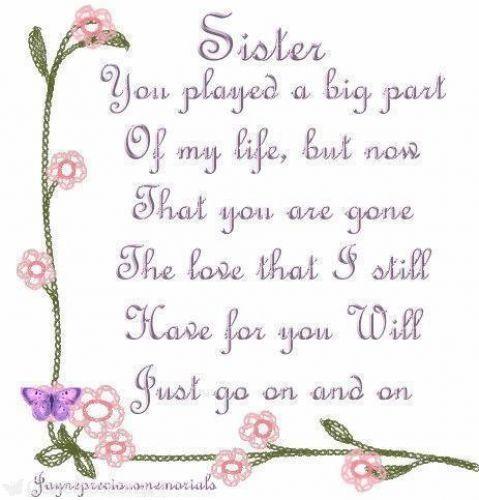 i miss my sister in heaven | Visit avril-caroline-connors.gonetoosoon.org