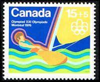 Canada B6 Stamp Olympic Sailing Stamp NA C B6-1 MNH