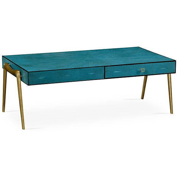 Zena coffee table teal cocktail table 2 749 liked on for Teal coffee table