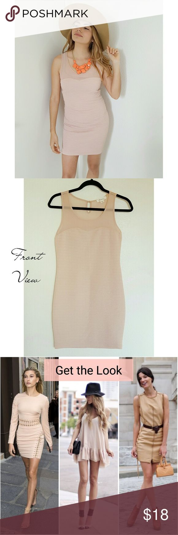 💋2x HP💋Beige Bodycon Dress ~ Elegant nude/beige bodycon dress ~ Excellent neutral tone that looks great on many different skin tones ✌🏻✌✌🏽✌🏿 ~ Sheer across shoulders ~ Worn once to a bridal shower ~ In perfect condition ~ Fits a size X-Small or Small ~ Very figure flattering ~ Perfect for Valentine's Day ❤  🌻 GET THE LOOK: Photo 3 is a style inspo photos. Similar looks; Not exact item.  ❤ LIKE for price drop notifications 👍 Accepting Reasonable OFFERS 🌴 BUNDLE your likes & I'll send…