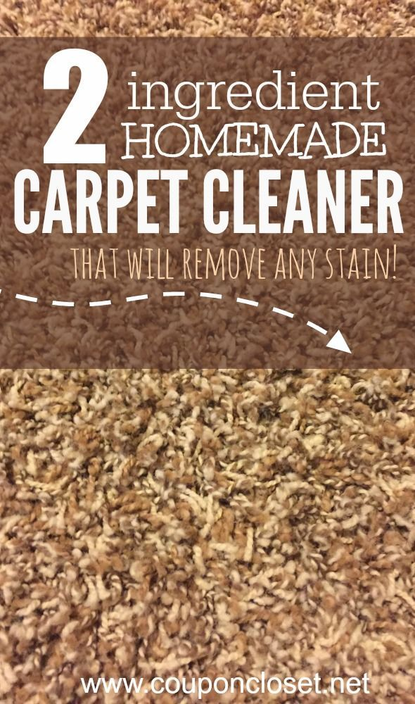 Homemade Carpet Cleaner - only 2 ingredients and you can get rid of any stain.