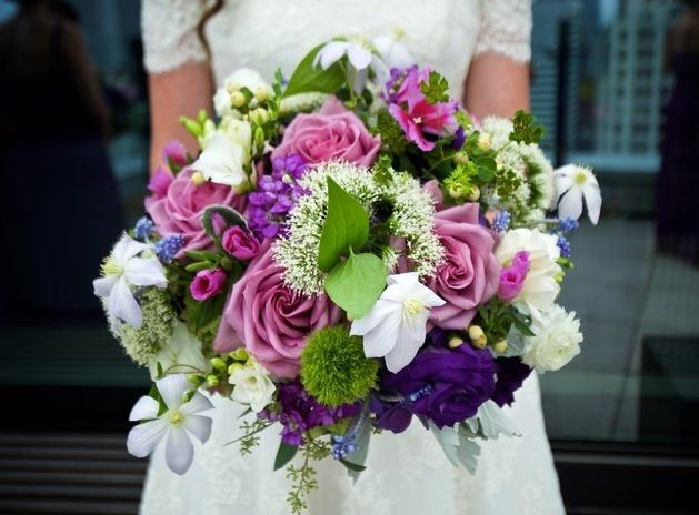 Bridal Bouquet by Jane's Blue Iris Ltd.Located in Hinsdale, IL. #bouquet  #bridal #florist #chicago
