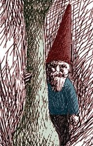 """Gnome-These kind-hearted forest dwellers generally make their homes underground near oak trees. They are known for their protection and healing of wildlife and in general are very beneficial to have around. They are around 10-12"""" tall and wear a red pointed hat with blue/green jackets.  They mature early and both sexes have white hair by the time they are 100 with a lifespan of 1000+ yrs.  On occasion they can be found in human dwellings but usually prefer to live in the woods, closer to…"""