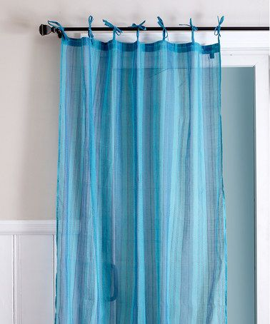 This Blue Stripe Curtain Panel is perfect! #zulilyfinds