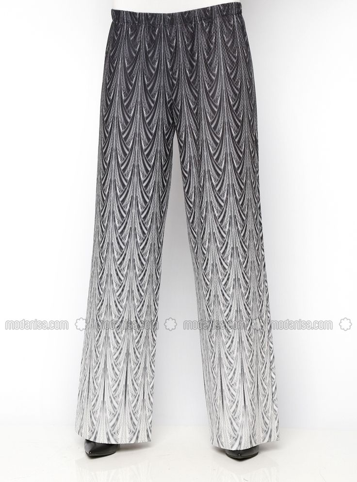 Bol Paça Pantolon - Siyah - Tuva By Burcu Aslan