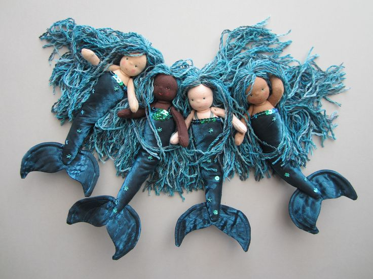 Mermaids. www.etsy.com/shop/cloudberrydesigns