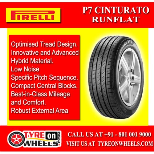 Buy Pirelli Car Tyres Online of P 7 Cinturato RunFlat Tyres at Guaranteed Low Prices and also get Mobile Tyres Fitting Services at your home now buy at http://www.tyreonwheels.com/tyres/Pirelli/P7-CINTURATO/575