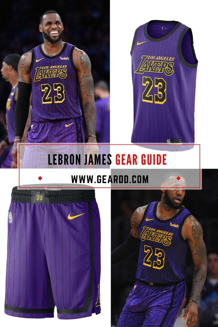 Lebron James La Lakers Road Jersey And Basketball Shorts La Lakers Lebron James Lakers