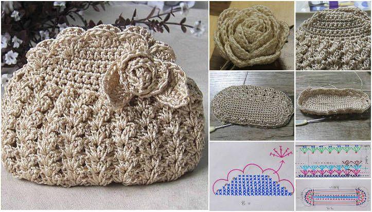 Hanımlar sizlere bugün paylaşmak istediğim güzel konu çiçek motifli örgü çanta yapımı. Örgü Çanta modeli ve yapılışı. Anlatımlı örgü çantalar.