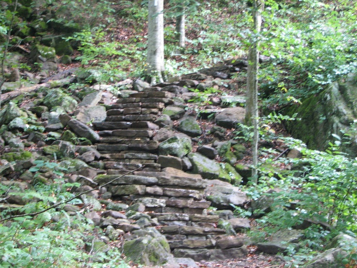 how to make stairs on a trail