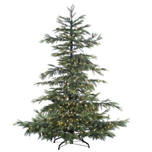pe layered noble fir smart lighted artificial christmas tree wstand