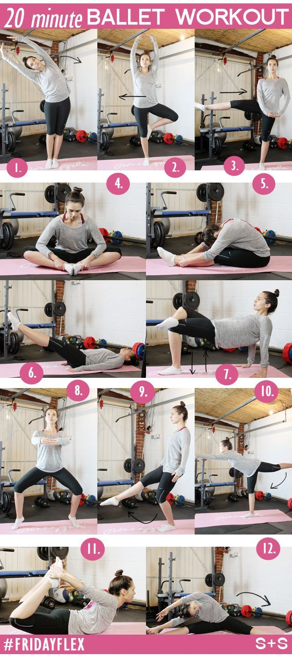 Flex Friday! Try this ballet inspired workout. #fitness