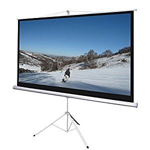 "Manual Pull Down Projector Screen Foldable Tripod Stand 87x49""  #Projector Screen #christmaspresent #christmas"