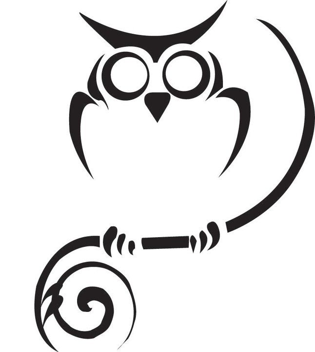 Tribal Owl Tattoo Design Picture 1. Patience and courage to look into the darkness without fear
