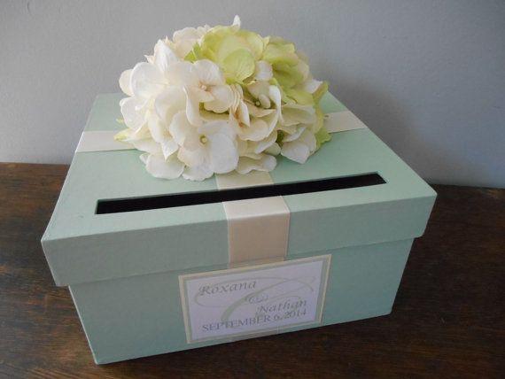 Custom Wedding Card Box Mint Green Wedding by astylishdesign