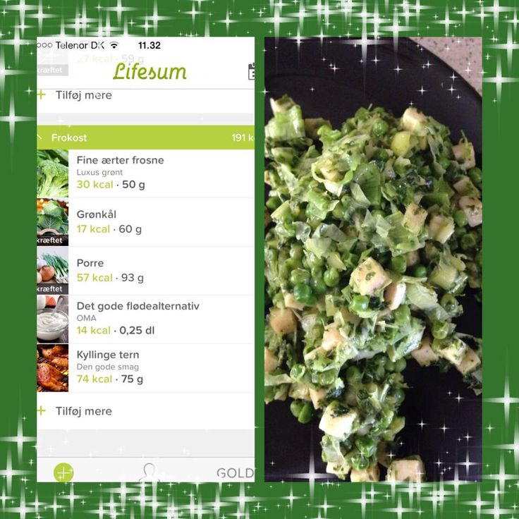 Sund grøntsagsret med grønkål og porrer