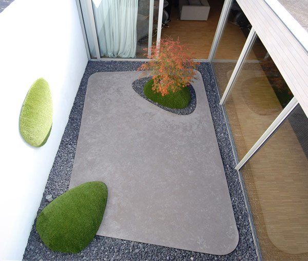 atrium, anyone?  |  Modern landscaping by Vertus via Plastolux