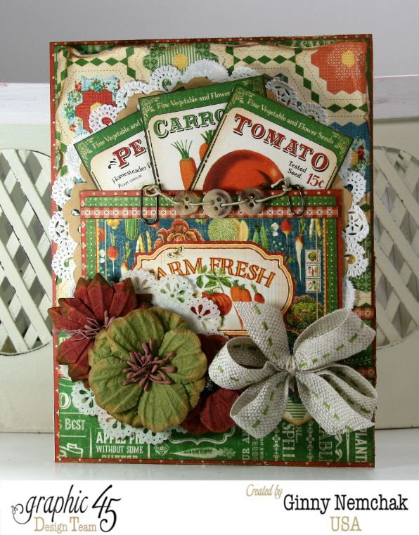 Home Sweet Home Seed Packet Card by Ginny Nemchak #graphic45; July 2015