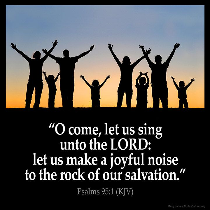 Psalms 95:1 O come let us sing unto the LORD: let us make a joyful noise to the rock of our salvation. Psalms 95:1 (KJV) from King James Version Bible (KJV Bible) http://ift.tt/1McgDnq Filed under: Bible Verse Pic Tagged: Bible Bible Verse Bible Verse Image Bible Verse Pic Bible Verse Picture Daily Bible Verse Image King James Bible King James Version KJV KJV Bible KJV Bible Verse Pic Picture Psalms 95:1 Verse #KingJamesVersion #KingJamesBible #KJVBible #KJV #Bible #BibleVerse…