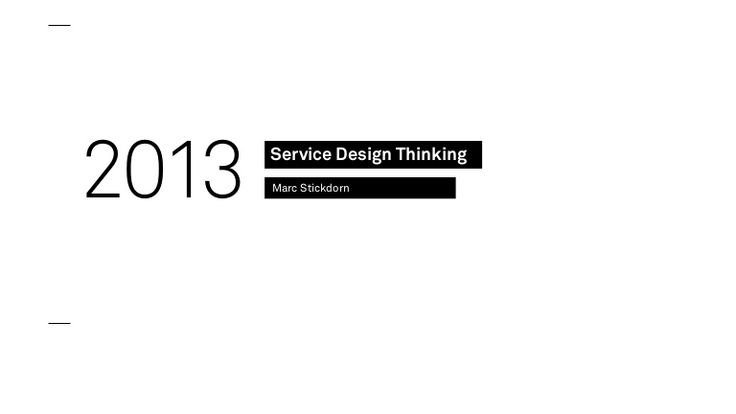 "#ServiceDesignThinking - a great summarize for ""This is service design thinking"" book."