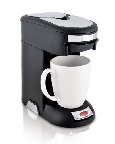Café Valet Black/Silver Single Serve Coffee Brewer, Exclusively for use with Café Valet Coffee Packs - http://teacoffeestore.com/cafe-valet-blacksilver-single-serve-coffee-brewer-exclusively-for-use-with-cafe-valet-coffee-packs/