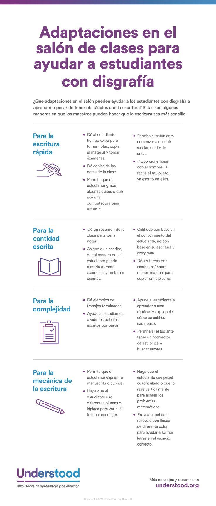Adaptaciones para ayudar a los estudiantes con disgrafía | Dificultades con la escritura