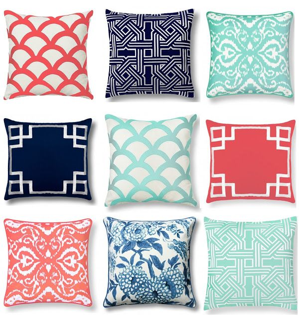 C Wonder Home Decor Throw Pillows Graphic Navy Coral Mint Pistachio Olive Lane C.Wonder