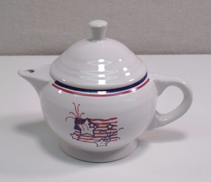 Fiesta® Dinnerware 'Stars & Stripes' Small 2-cup Teapot & Lid made by Homer Laughlin China Company | eBay
