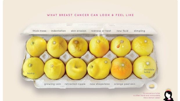 The viral photo educating women about the warning signs of breast cancer