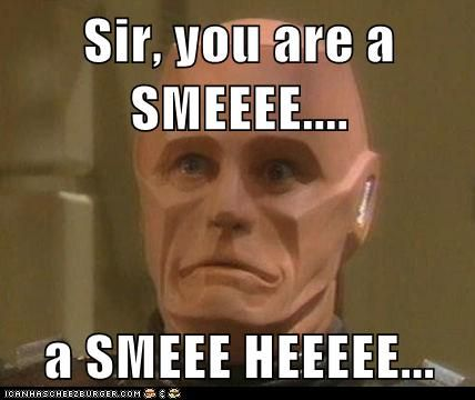 Kryten. Every time I think of him, hes trying to say these very words.