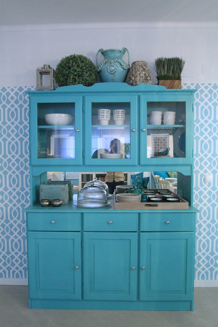 Morocan Inspired Kitchen - Project by Ana Antunes for House Makeover Show - Turquoise Cabinet, green,