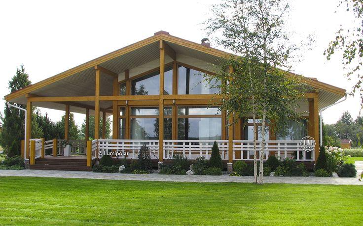 Строительство шале фахверк под ключ - проекты коттеджей домов в стиле шале цена строительства - купить деревянный современный комбинированный фахверк, фасад дома в стиле фахверк шале | Lumi Polar