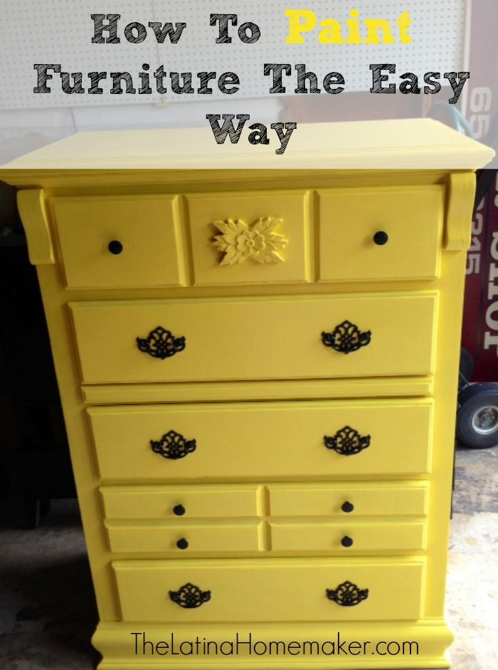 How To Paint Furniture The Easy Way-See how I turned an old dresser into a beautiful piece of furniture.