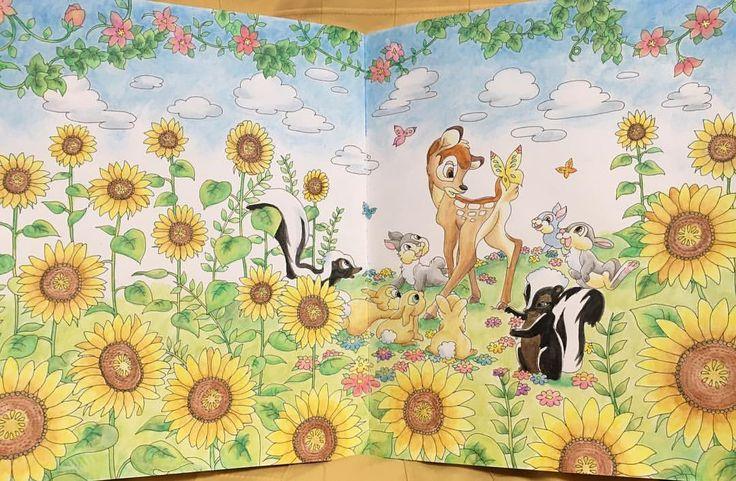 。 。 ⋆。˚✩Bambi⋆。˚✩ 。 。 やっとできたー!!✨1週間以上かかった気がする!なぜか今回なかなか筆が進まなくて(>_<;) 自分の集中力のなさにビックリします( ̄▽ ̄;)笑 。 空のみパステル、他はすべて水彩色鉛筆です 。 ちょっと早いですが夏っぽいもの塗ってみました!(*´˘`*)♥ 。 。 #コロリアージュ #大人の塗り絵 #ファーバーカステル #ステッドラー #ダイソーパステル #四季を彩るディズニー塗り絵 #バンビ