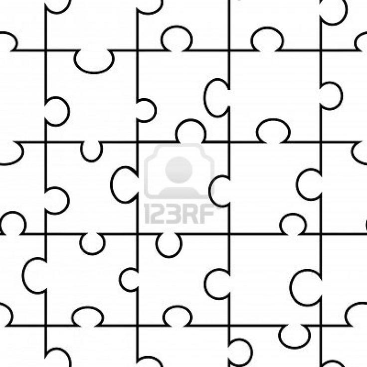 seamless vector jigsaw