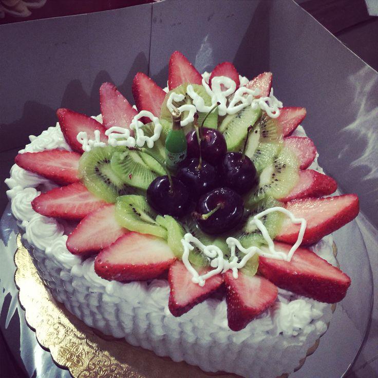 Lapis Surabaya Cake decoration fruit