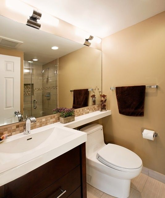 Adapt For Guest Bath Extended Counter Shelf Over Toilet Bathroom Remodel Ideas Pinterest
